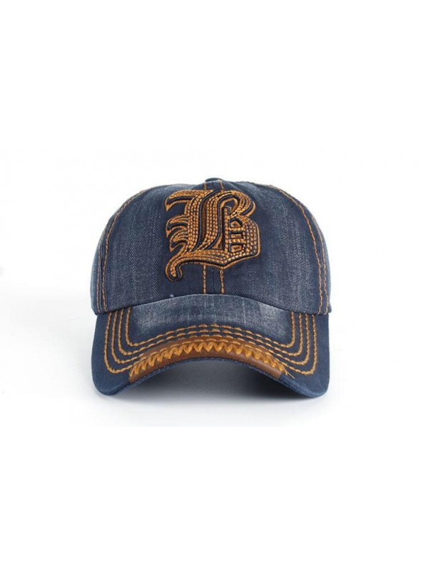 High Quality Embroidery Letter B Comfy Jean Cap
